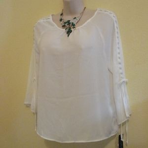 NWT - ZAC & RACHEL Decorative white blouse - sz PS